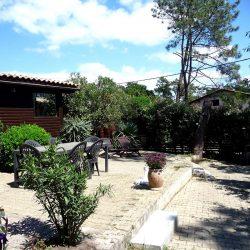 Vue de la terrasse Chalet Villa Caroline