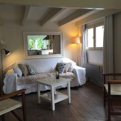 Salon du chalet de Villa Caroline au Cap Ferret