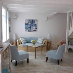 Salon confortable de la Villa Bancot - Villa Caroline Arcachon